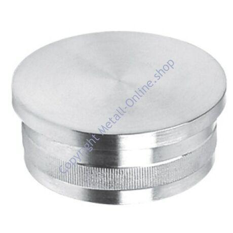 Endkappe für Rundrohr, flach, Edelstahl (AISI 304 - V2A), verschiedene Größen