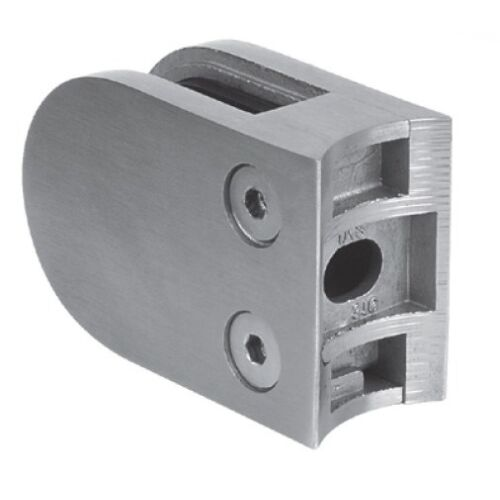 Glashalter mit Sicherungsstift, 50x40mm, für Rundrohr, Edelstahl (AISI 316 - V4A), verschiedene Größen